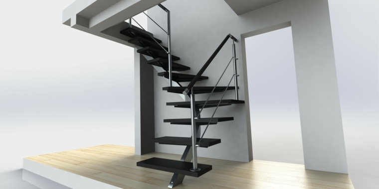escaleras metalicas interiores-decorar-casa