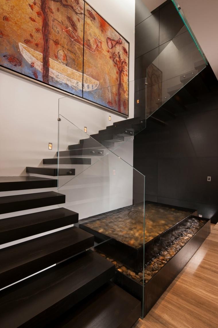 escaleras modernas-barandillas-cristal