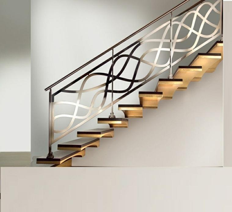 escaleras modernas con barandillas