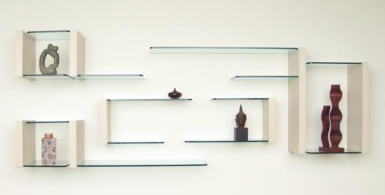 estantes de madera-cristal-decorar-interior