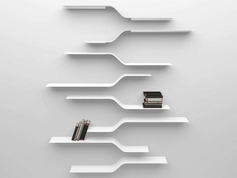 estantes de madera-modernos-decorar-paredes