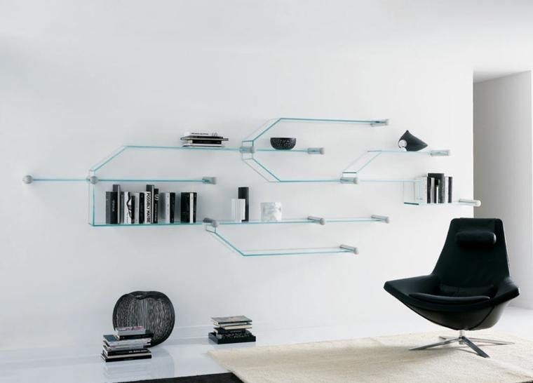 estantes de metal-cristal-decorar-salones