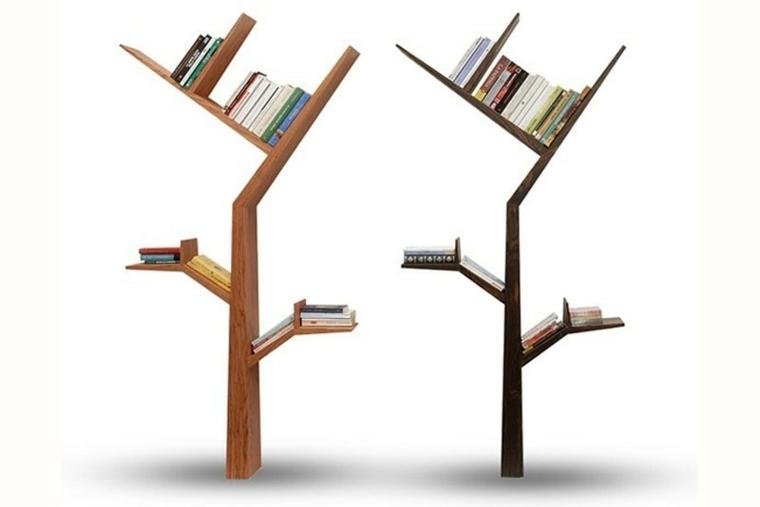 estantes para libros arboles
