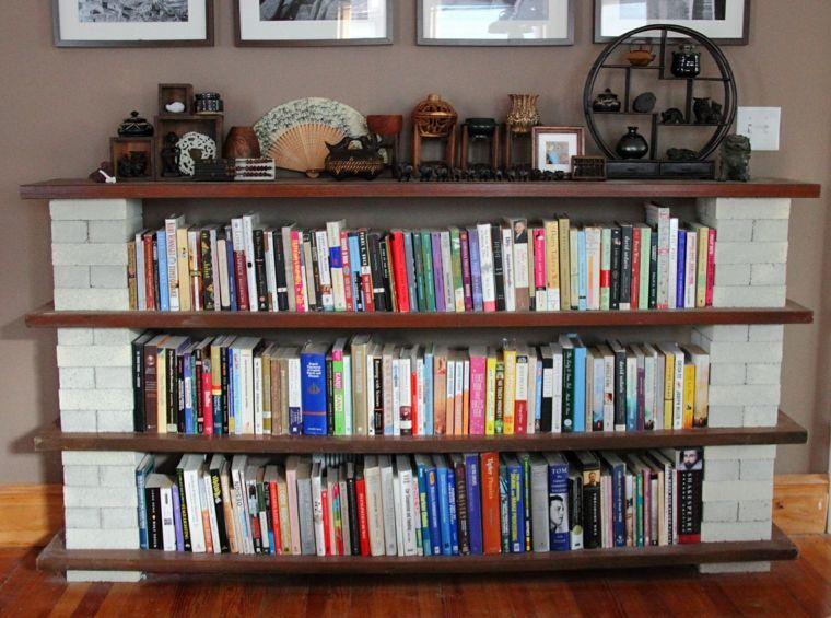 estantes para libros bajos