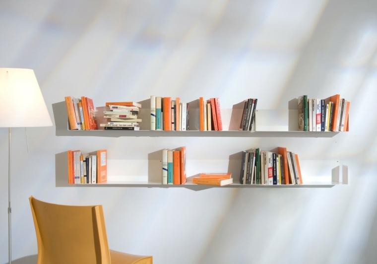 estantes para libros flotantes