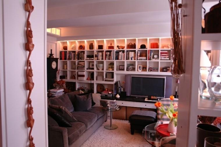 estantes para libros-ideas-habitaciones-pequenas