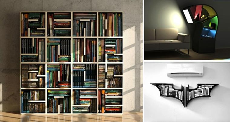 estantes para libros modernos