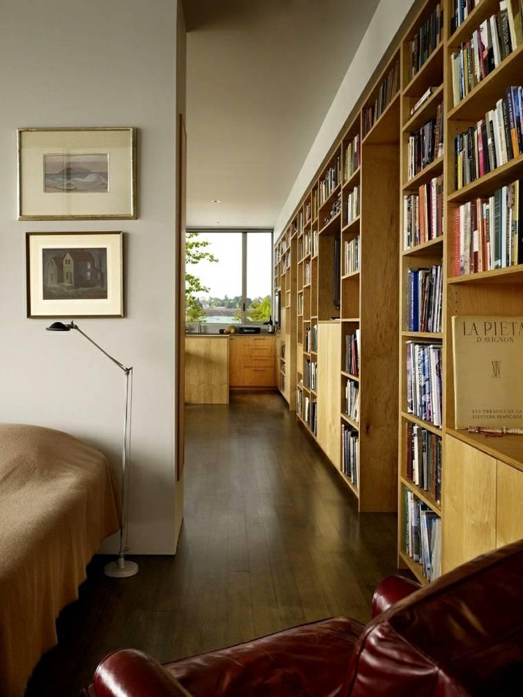 estantes para libros-opciones-madera-natural