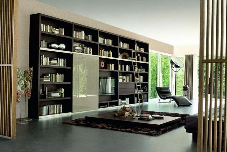 estantes para libros-salones-modernos