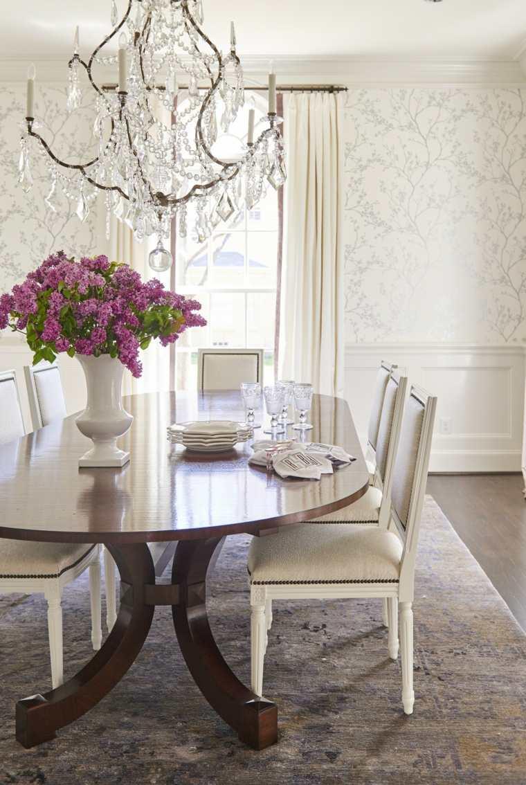 Papel de pared decorativo para el comedor - 30+ diseños atractivos -