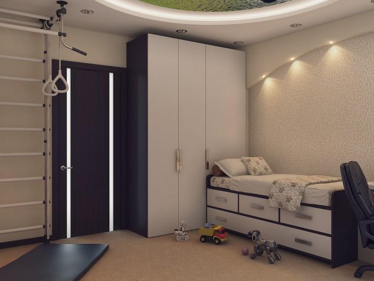 estilo-iluminacion-habitacion-nino-estilo-moderno