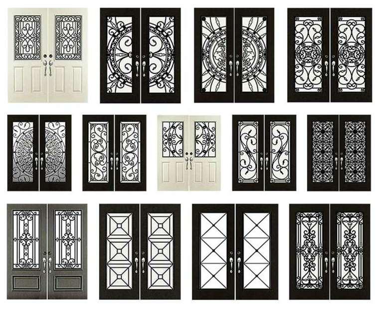 estilos de puertas de entrada de hierro