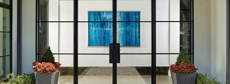 puerta de entrada de vidrio