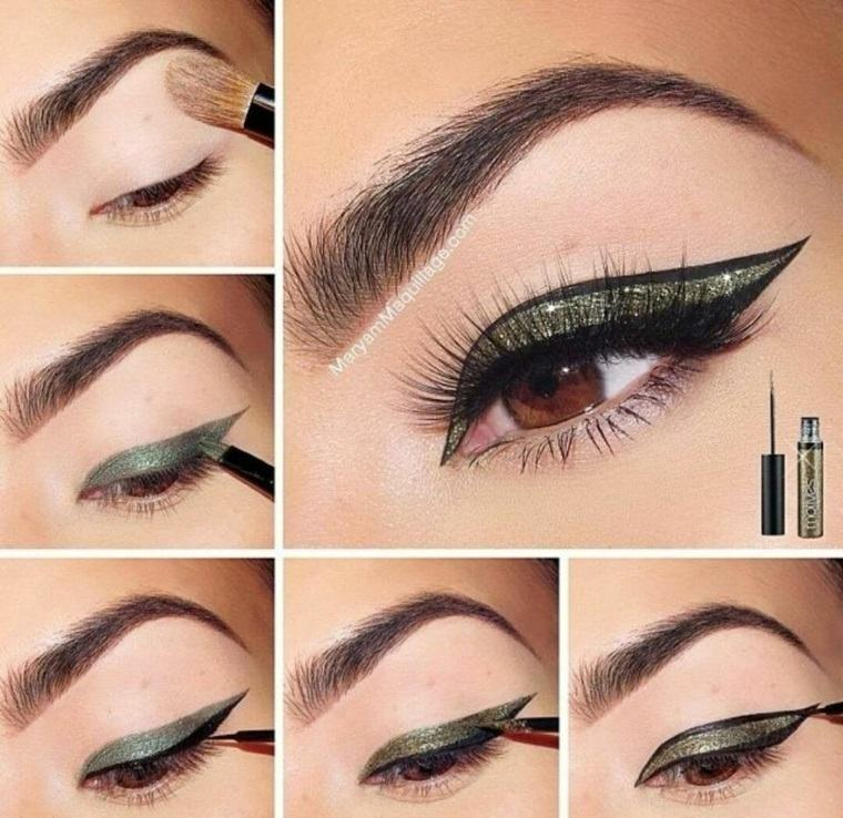 eyeliner paso a paso-aplicar-casa