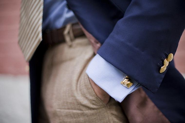 gemelos-camisa-trajes-color-oro