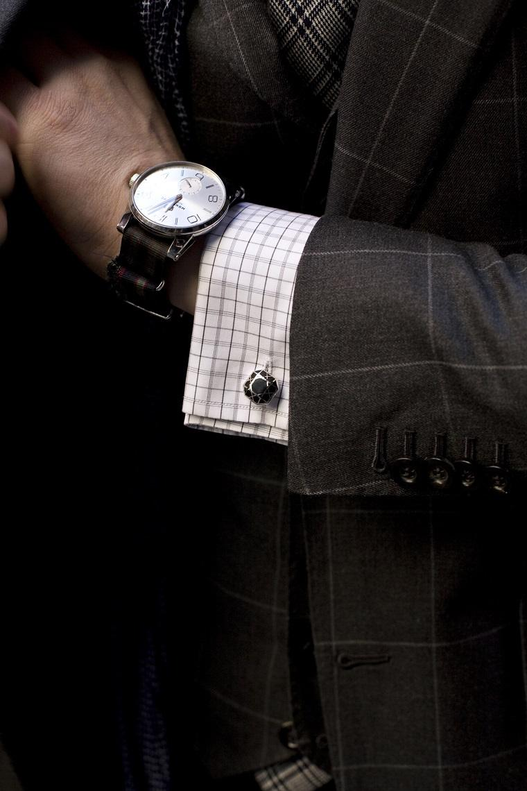 gemelos-camisa-trajes-reloj-combinacion