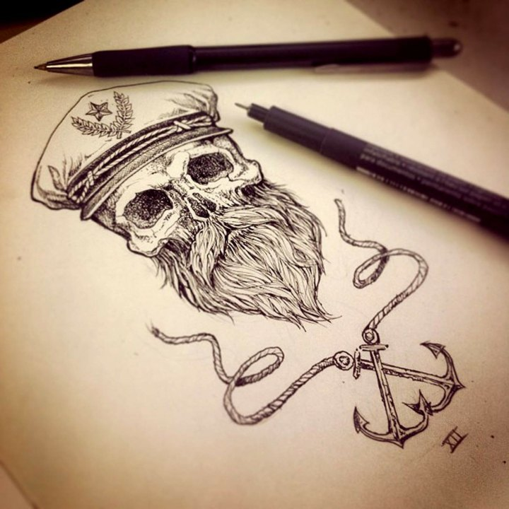 gorro-capitan-craneo-barba