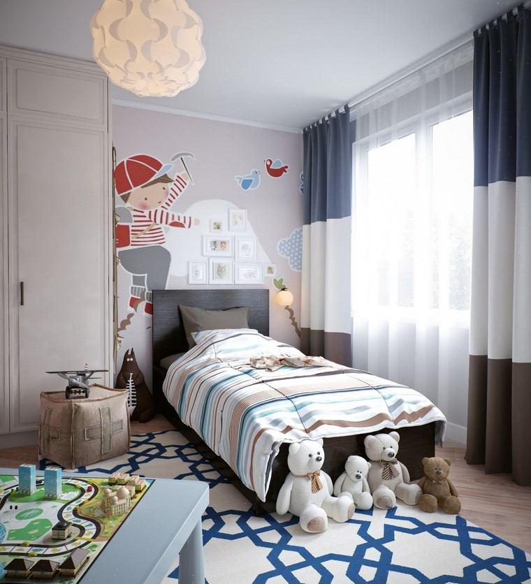 habitaciones-infantiles-nino-azul-blanco