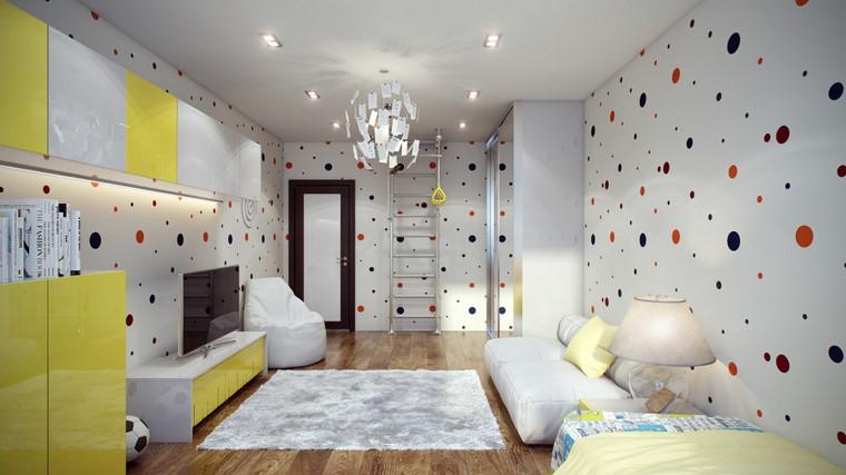 habitaciones infantiles niño-diseno-pared