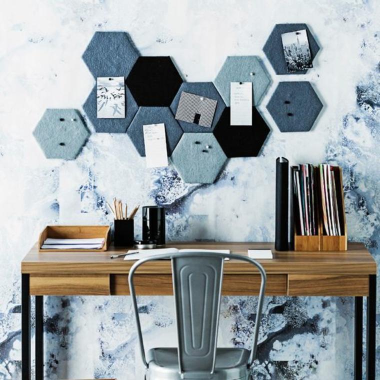 tablon de anuncios hexagonos