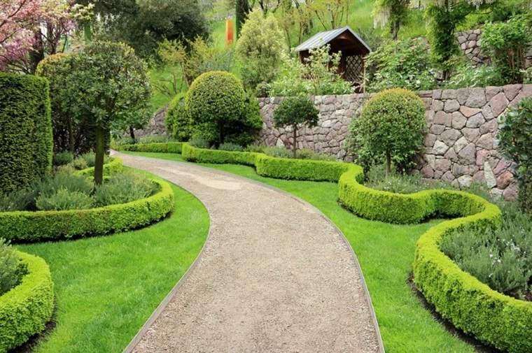 estupendas ideas para cercas de setos y arbustos
