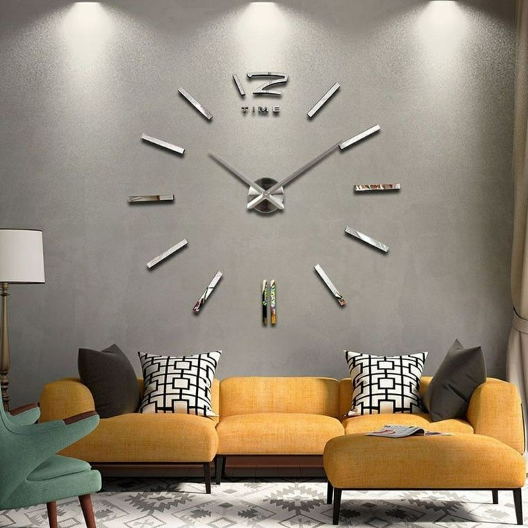 ideas para decorar casas pequenas-reloj