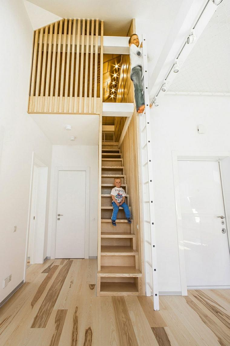Diseños de escaleras minimalistas para cada espacio
