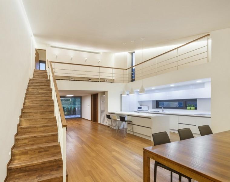 escaleras de madera de diseño moderno