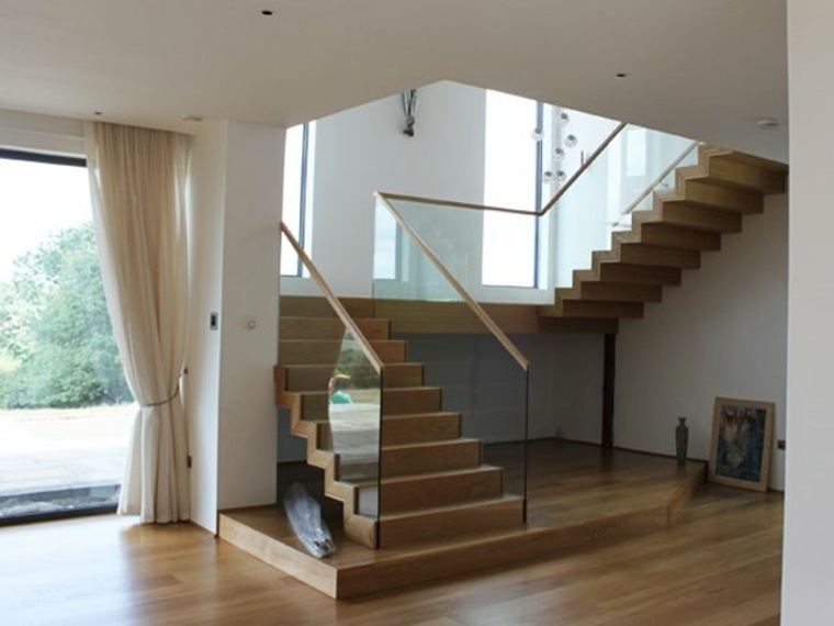 escaleras minimalistas para interiores