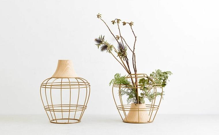 jarrones con flores modernos