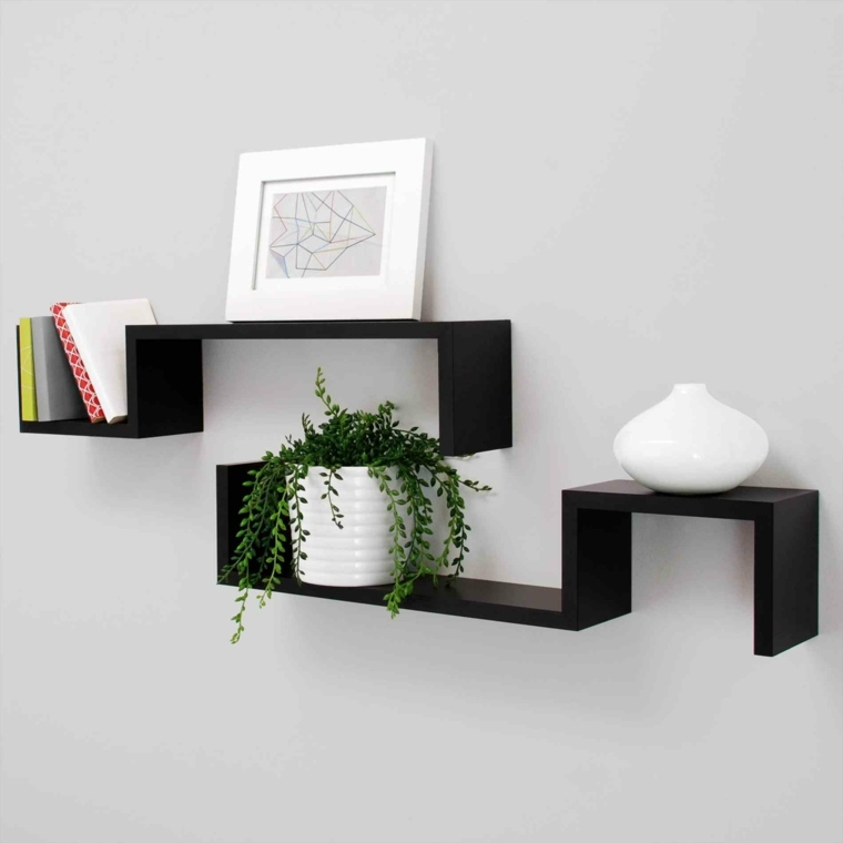 libreros de madera-decoracion-interiores