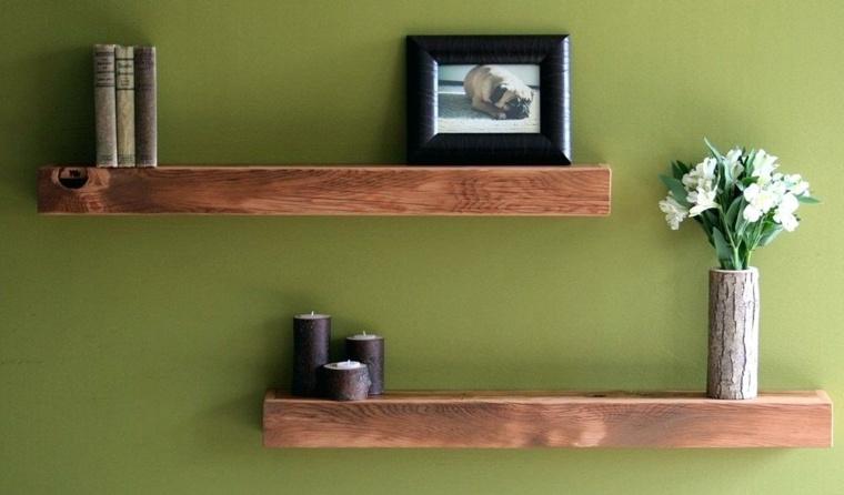 Repisas flotantes modernas para unos salones elegantes - Libreros de madera modernos ...