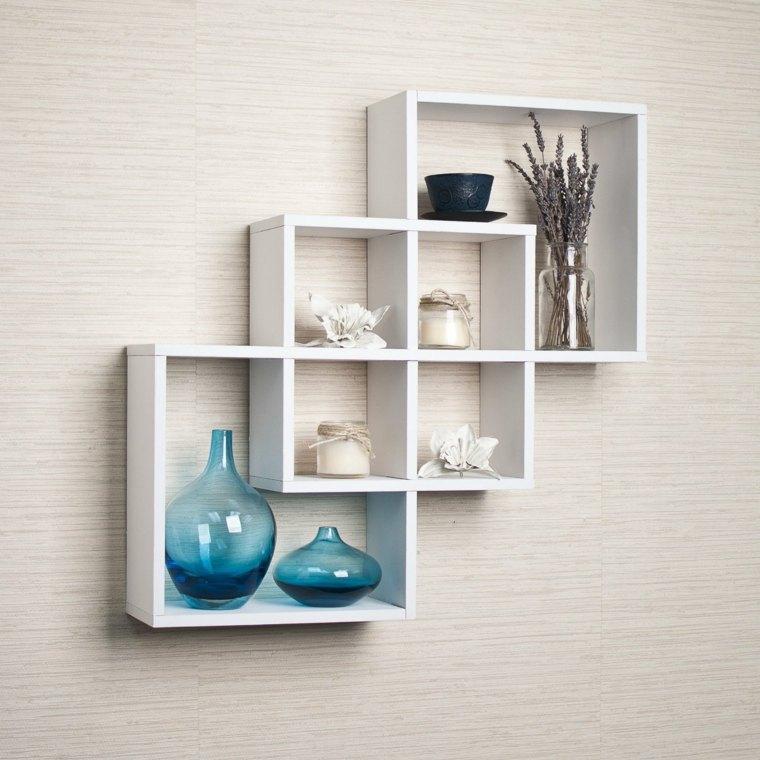 libreros de pared-cuadrados-decorar-salon