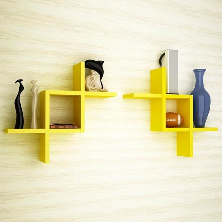 libreros modernos-decoracion-paredes