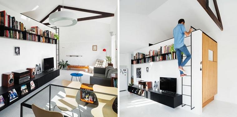 loft pequeño-dormitorio
