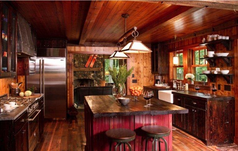 estupenda cocina de estilo rústico