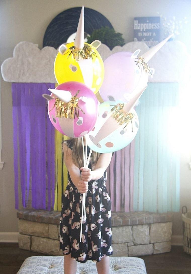 manualidades sencillas-globos-unicornio
