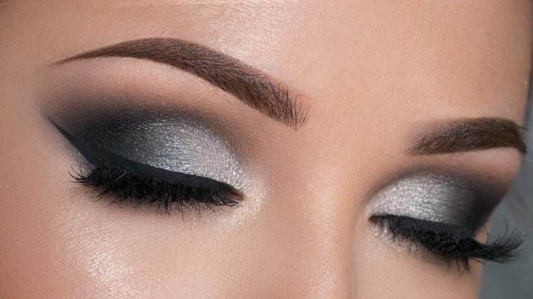maquillaje de ojos-ahumado-gris
