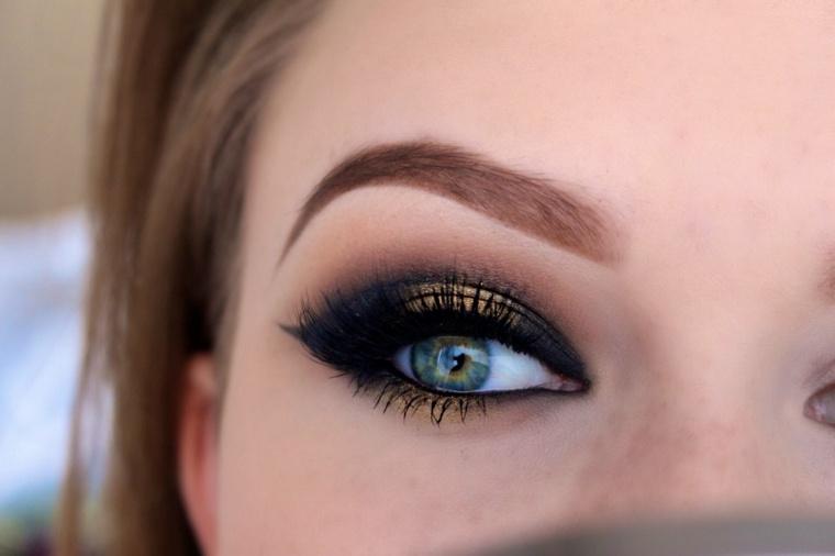 maquillaje de ojos de dia-noche