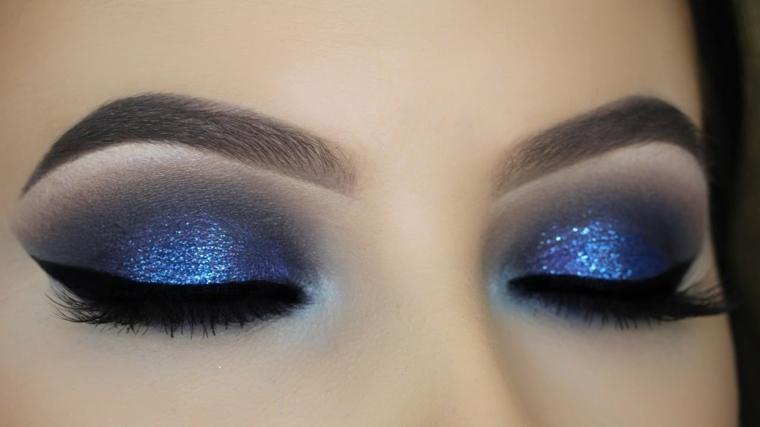 maquillaje para ojos-purpurina-azul