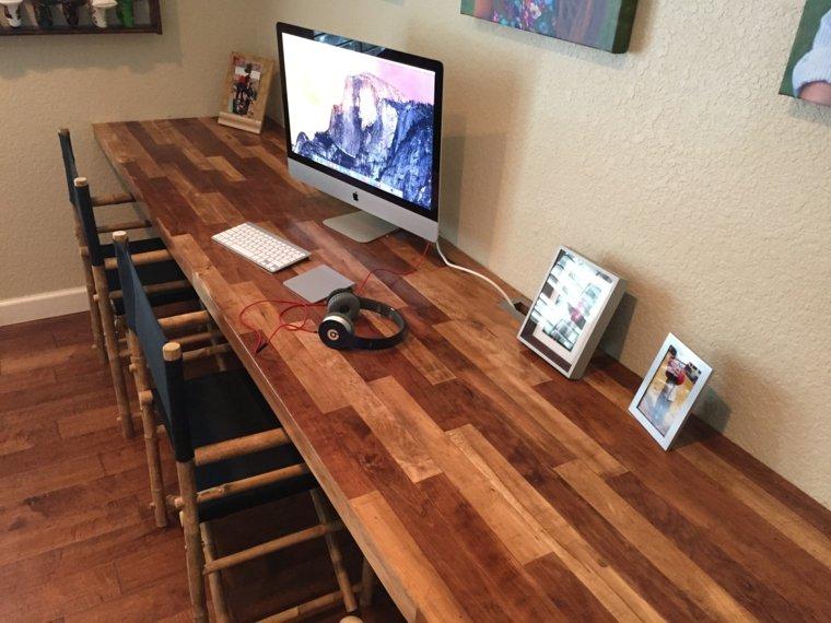 original diseño de mesa de escritorio de madera