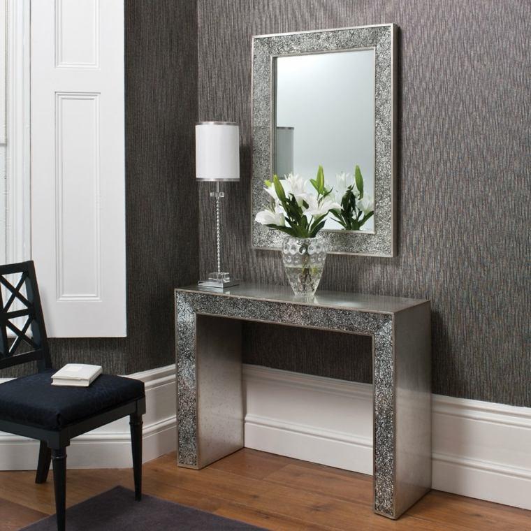 mesas de-consola-decoracion-floral