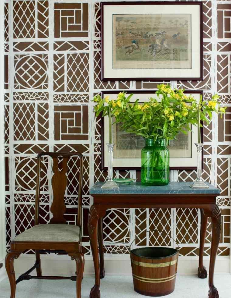 mesas de-consola-decoraciones-flores