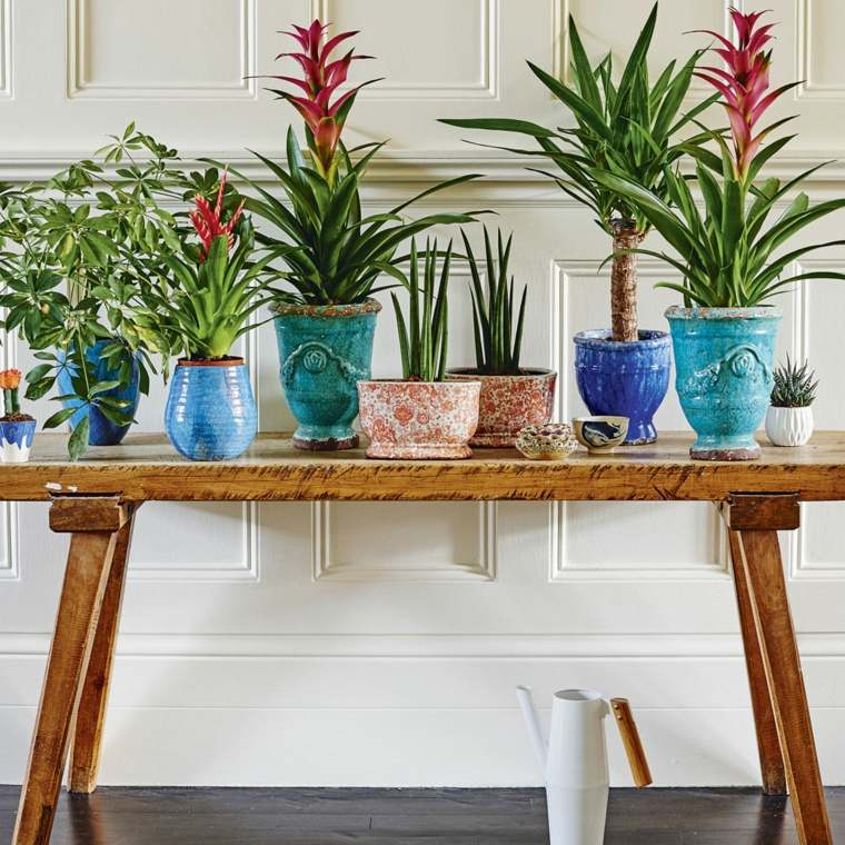 mesas de-consola-decorada-flores