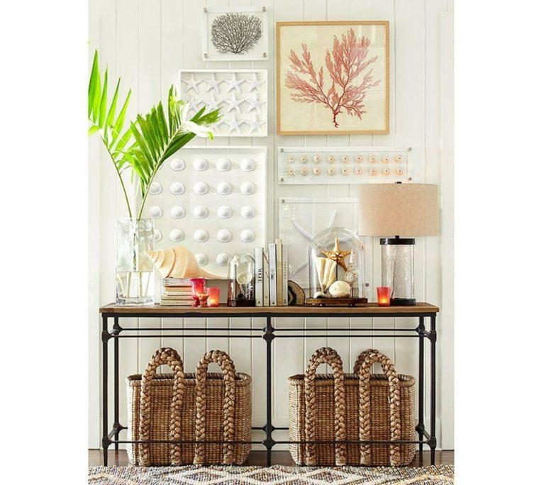 mesas de-consola-decoradas-flores