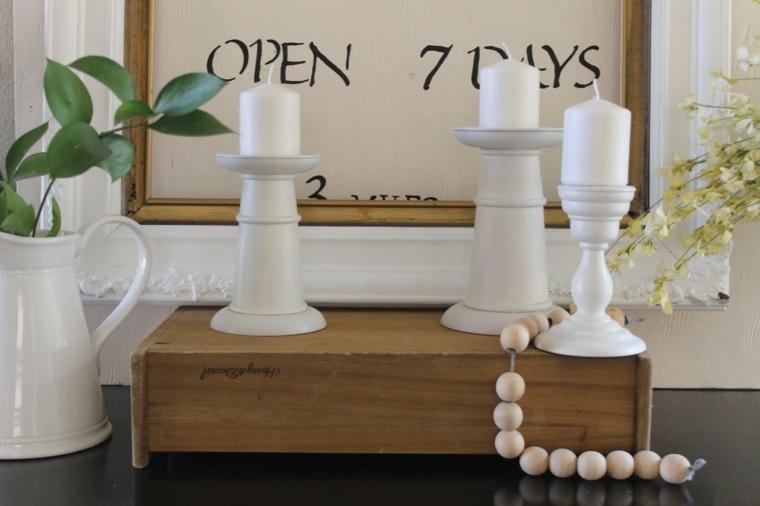 mesas de-consola-decoradas-flores-velas