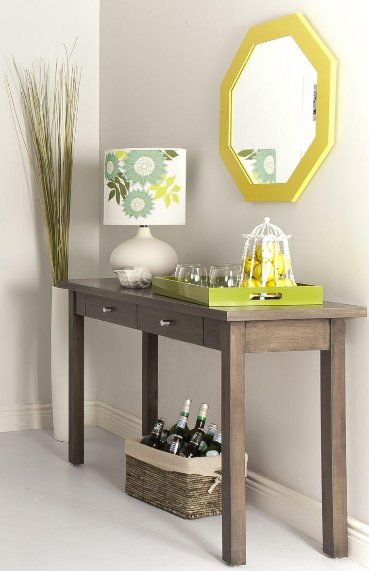 mesas de madera-recibidores-flores