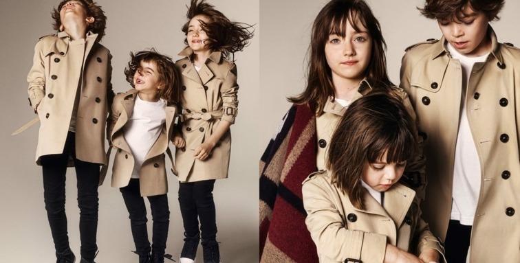 moda infantil Burberry