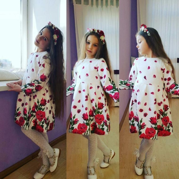 moda infantil tendencia-floral
