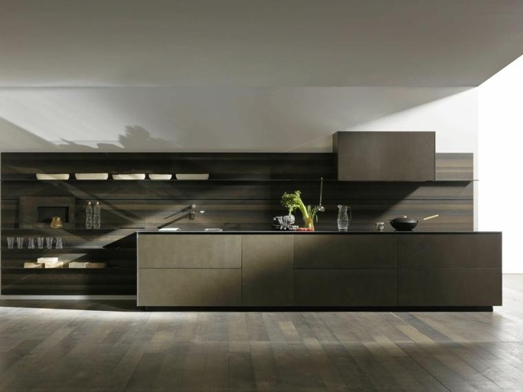 modelos de cocinas integrales-madera